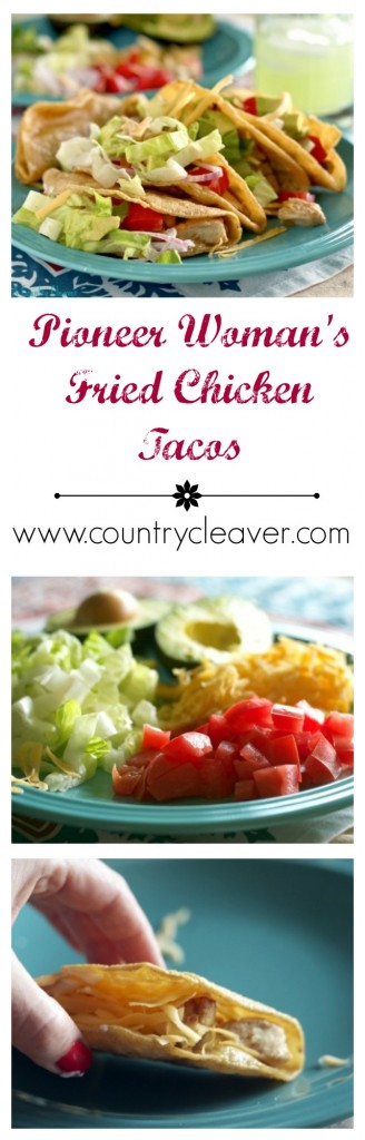 The Pioneer Woman's Fried Chicken Tacos - www.countrycleaver.com
