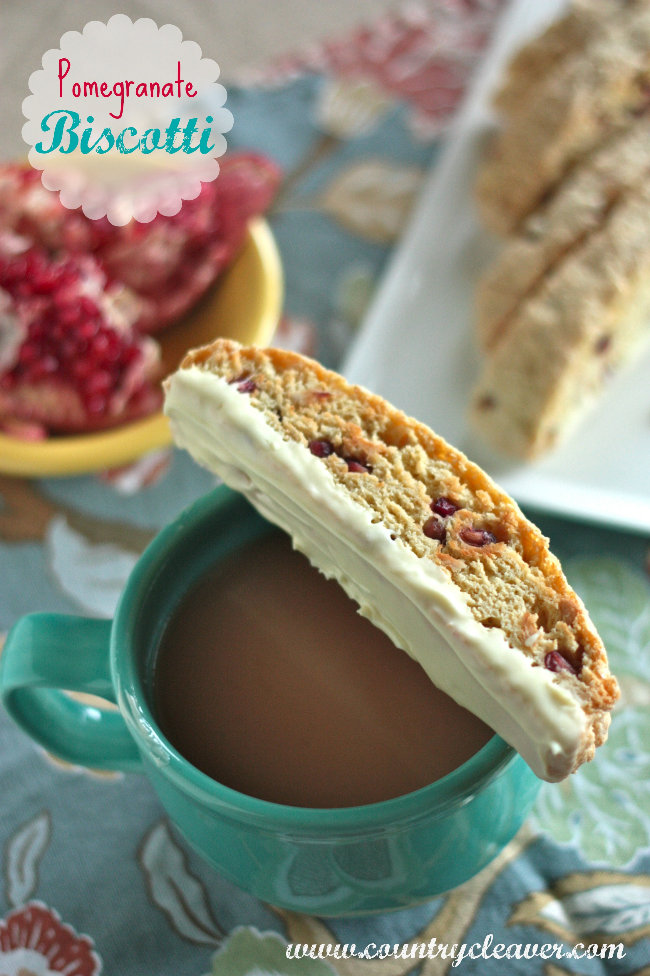 Pomegranate White Chocolate Biscotti