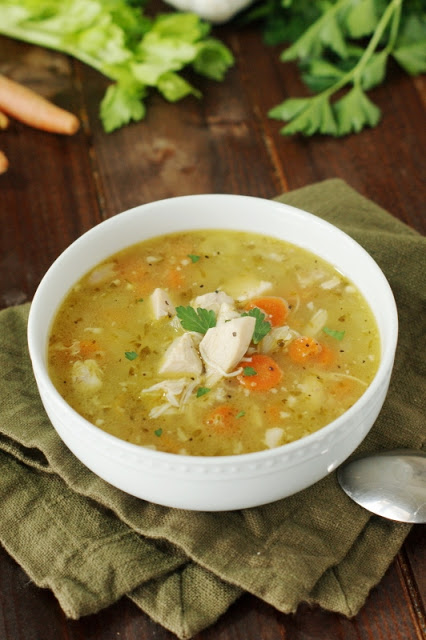 {Leftover} Rotisserie Chicken Soup-- www.countrycleaver.com