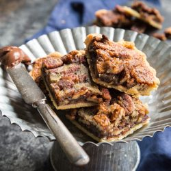 Nutella Pecan Pie Bars